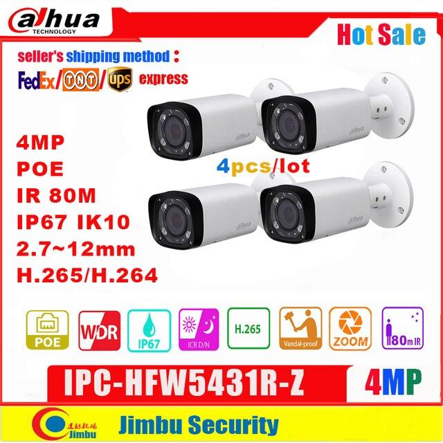 Dahua 4MP kamera IP POE IPC HFW5431R Z wymienić IPC HFW4431R Z 2.8 12mm 4 sztuk/partia zmiennoogniskowy zmotoryzowany Len H.265 / H.264 IR80M