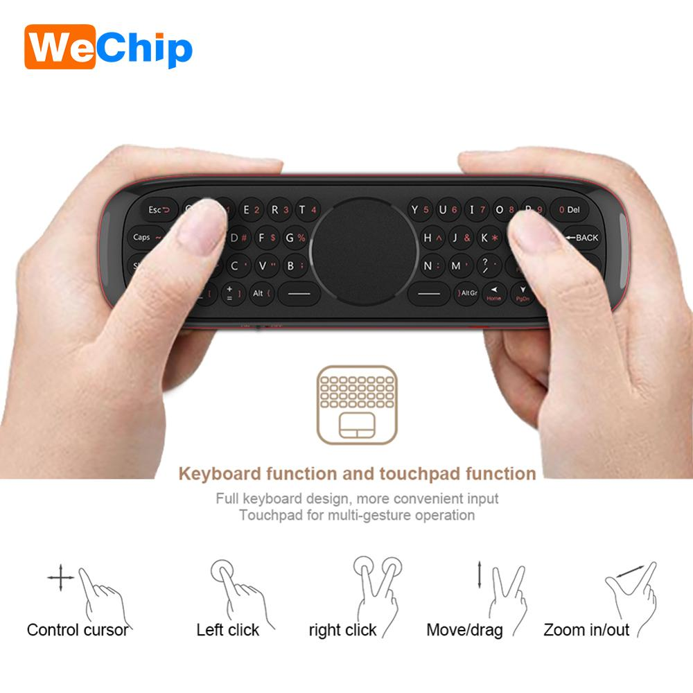 Image 4 - Wechip W2 Mini Keyboard with Touch Pad Mouse 2.4G Wireless Fly Air Mouse Voice Remote Control For Tv Box/Mini Pc/Tv PK Wechip W1Remote Controls   - AliExpress