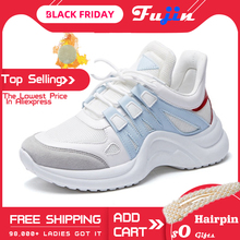 Fujin Sneakers Women 2020 Breathable Mesh Casual Shoes Femal