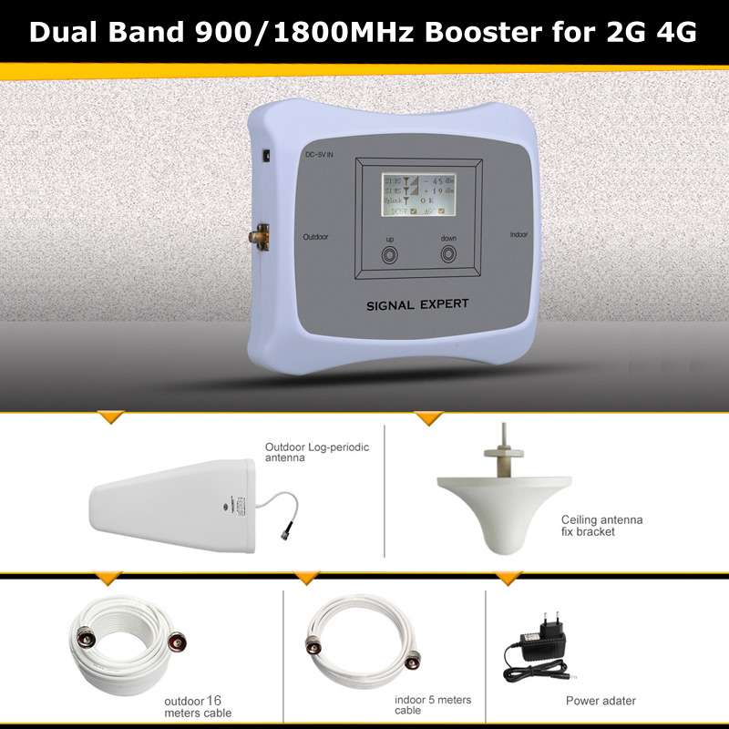 900 1800mhz 2g 4g Signal Booster Repeater Device Strengthen Signal Mobile Phone