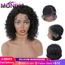 Lace Wig Human-Hair-T-Part Water-Wave Non-Remy-Hair Pre-Plucked Ombre-Color Brazilian