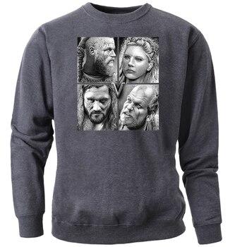 Odin Vikings Sweatshirts Men Scandinavian Valhalla Crewneck Hoodies Ragnar Lothbrok Lagertha Athelstan Viking Jumper Sportswear 2