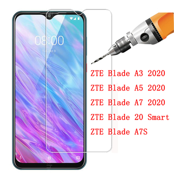 Перейти на Алиэкспресс и купить Защита для экрана закаленное стекло для ZTE Blade Передняя зеркальная защитная пленка для ZTE Blade A3 A5 A7 20 Smart A7S 2020