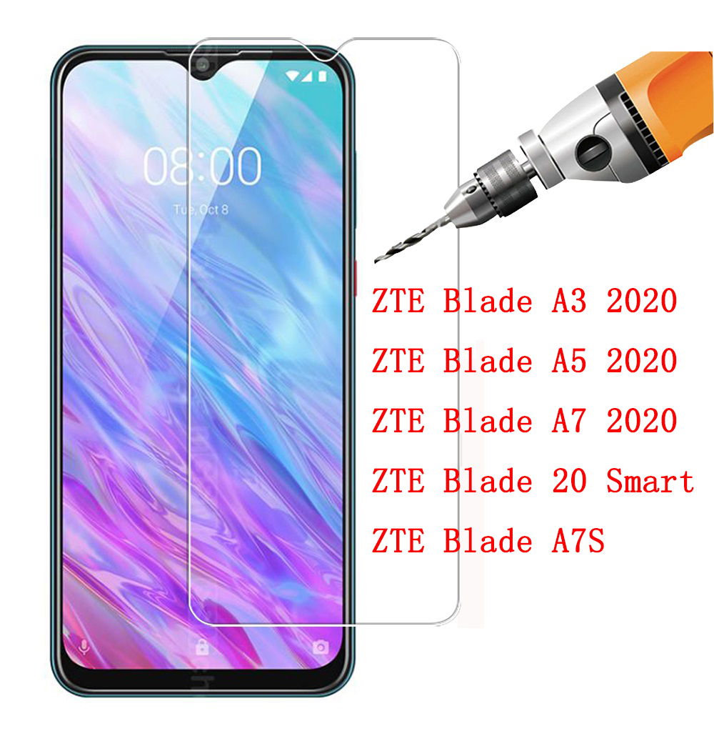 Screen Protector Tempered Glass For ZTE Blade Front Mirror Protective Film For ZTE Blade A3 A5 A7 20 Smart A7S 2020