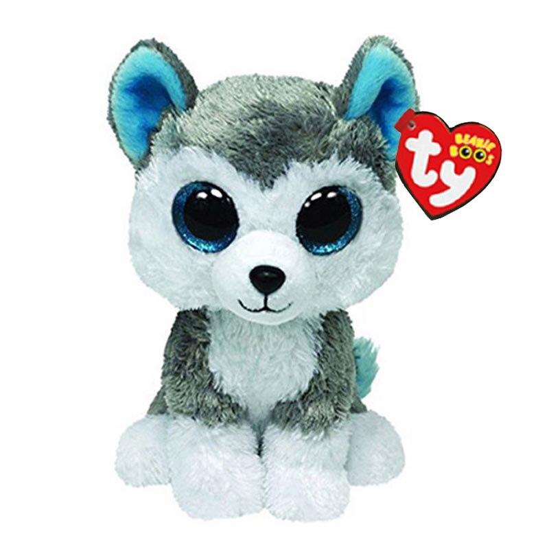 15 см Ty Мягкие плюшевые игрушки с животными, сланцевая игрушка хаски, большая шапочка с глазами, милые мягкие игрушки, детская развивающая иг...