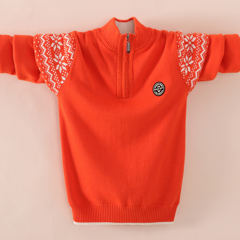Boy's clothing Winter Cotton products clothing Boy's Sweater  pullover Sweater  Kids clothes children's Sweater winter Keep warm 1