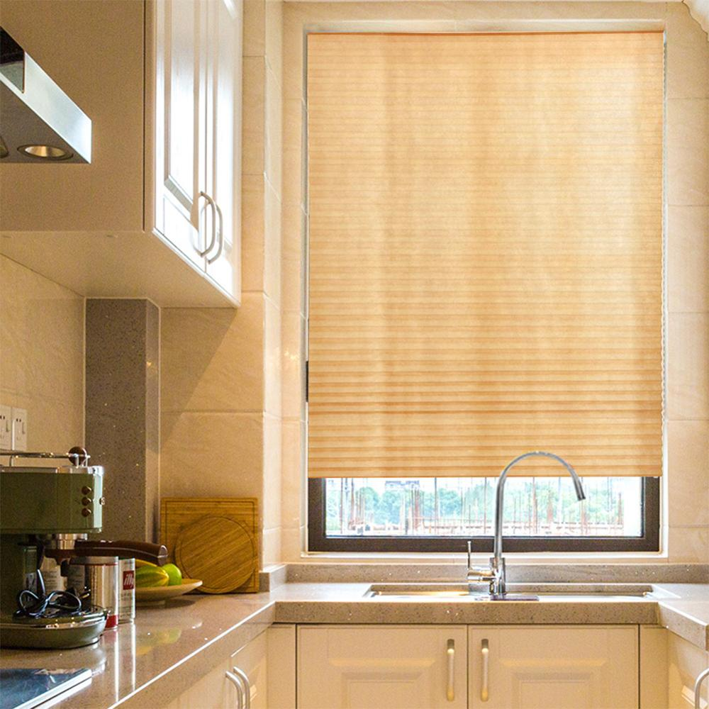 Roller Blinds Plissee Jalousie Windows Curtains For Bathroom Kitchen Balcony Shades Self-Adhesive Pleated Blinds Half Blackout