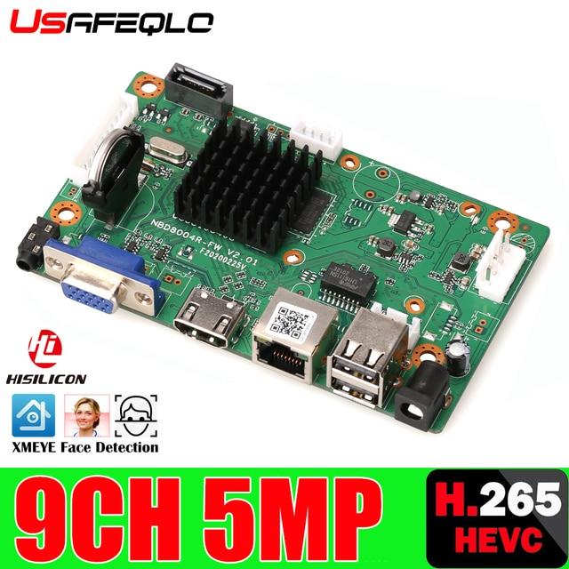 CCTV 8CH 9CH NVR H.265 + + сетевой видеорегистратор 9 каналов 5.0MP NVR,HDMI выход, поддержка Onvif / Cloud, мобильный мониторинг приложений