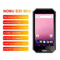 NOMU S30 Mini SmartPhone 3GB RAM 32GB ROM 4.7 4G LTE Telephone MTK6737VWT Quad Core Android 7.0 8.0MP Waterproof Mobile Phone