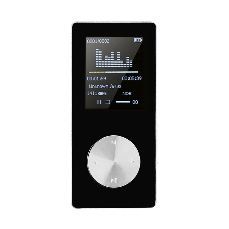 16G Hifi Lossless Mp3 Player Fm Video E-Book Recorder Clock Function Sports Tf Card 1.8 Inch Tft Screen Music Player Black Plast