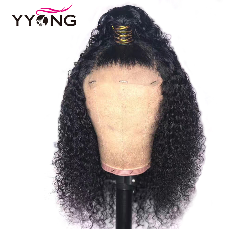 Yyong Hair 13x4 Kinky Curly Lace Front Human Hair Wigs Short Brazilian Human Hair Lace Front