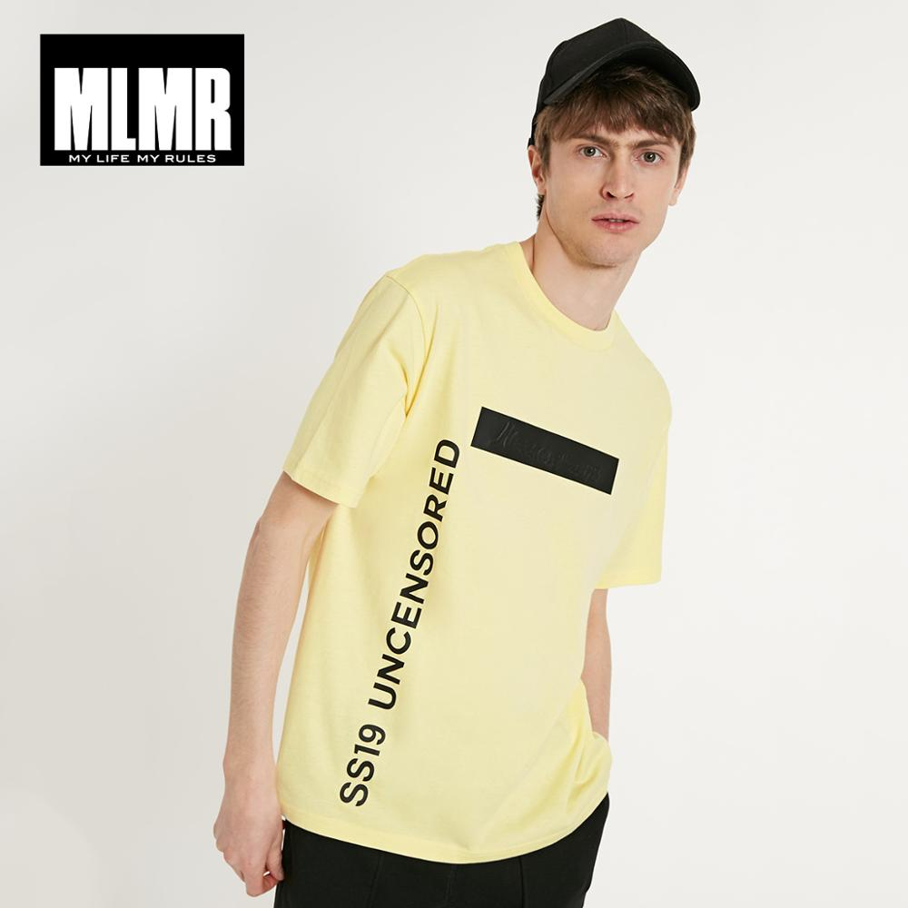 JackJones MLMR Men's 100% Cotton 3D Embroidered Print Letter Print Short-sleeved T-shirt Streetwear| 219101598