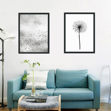 Plant Potted Dandelion Canvas Art Abstract Painting Print Poster Picture Wall School Office Bedroom Home Decor