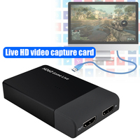 HDMI to USB 3.0 Video Capture Card Adapter HD60 Recorder Box with Microphone Input Support 4K 30fps Input QJY99