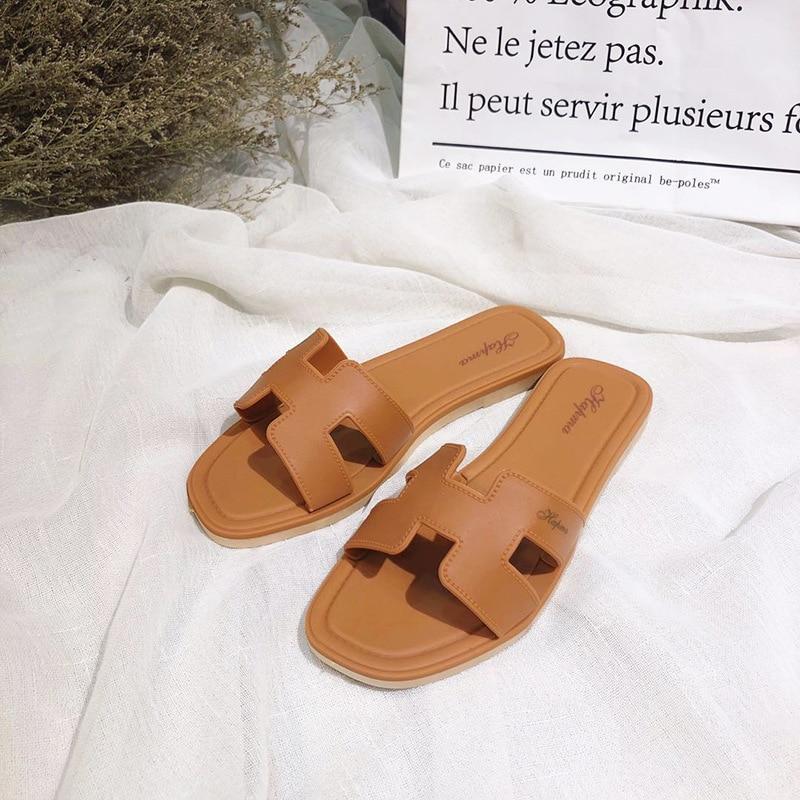 2020 Summer New Women Shoes Slides Sandals And Slippers Sandals Female Slides Women And Slippers  Furry Fur Slides For Women