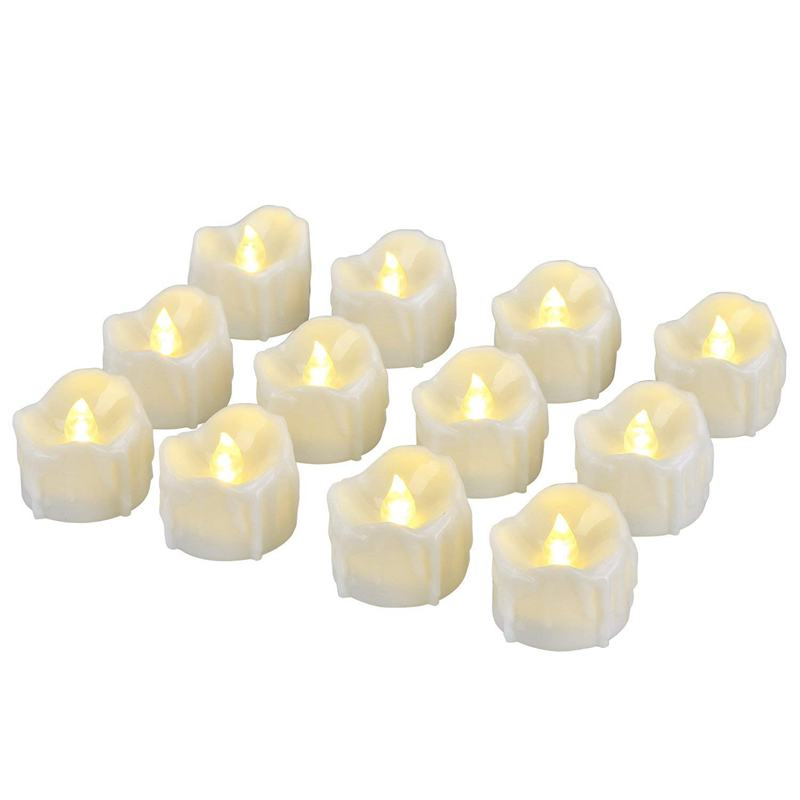 New LED Candles, LED Tealights Flameless Candles With Timer, Automatic Mode: 6 Hours On And 18 Hours Off, 12 Pieces, Warm White