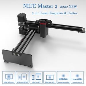 Image 2 - 2020 nouveau NEJE Master 2 20W bureau CNC Laser graveur Portable bricolage gravure sculpture Machine Laser découpe gravure Machine