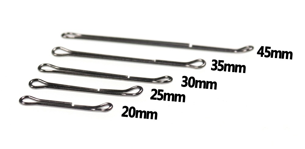 fly tying Shanks 35 mm 55 mm Poisson Crâne articulé tige 20 Pack 20 mm