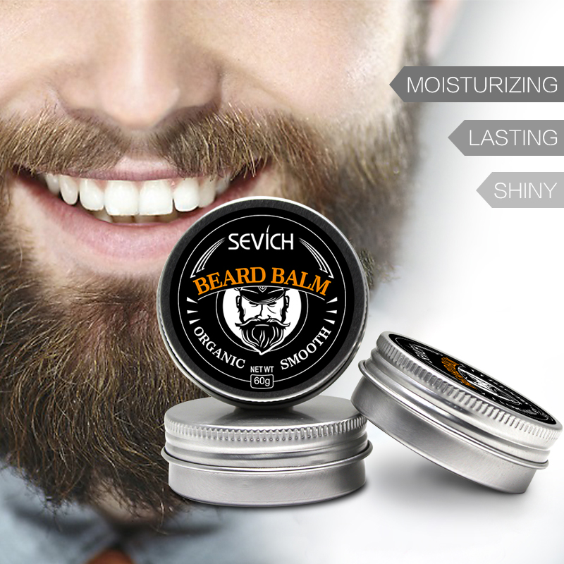 Natural Beard Balm Beard Conditioner Professional For Beard Growth Organic Mustache Wax For beard Smooth Styling 30g 60g sevich image