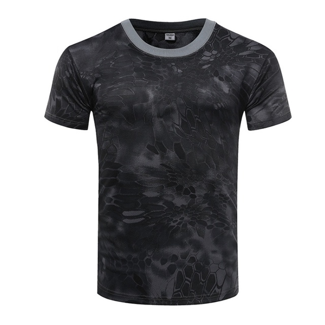 Camouflage Tactical Shirt Short Sleeve Men's Quick Dry Combat T-Shirt Military Army T Shirt Camo Outdoor Hiking Hunting Shirts 3