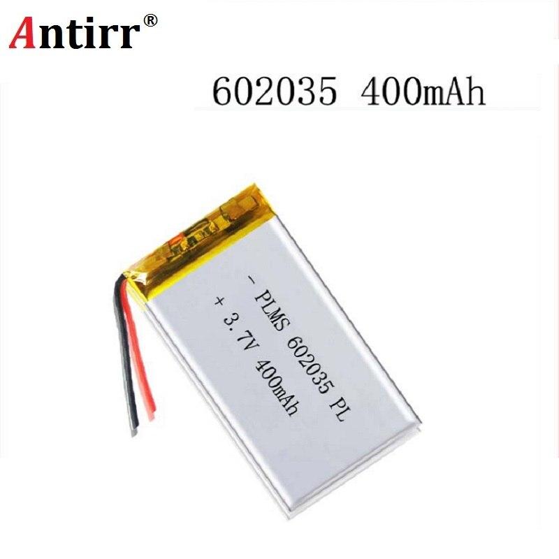 Free Shipping Polymer Battery 400 Mah 3.7 V 602035 Smart Home MP3 Speakers Li-ion Battery For Dvr GPS Mp3 Mp4 Cell Phone Speaker