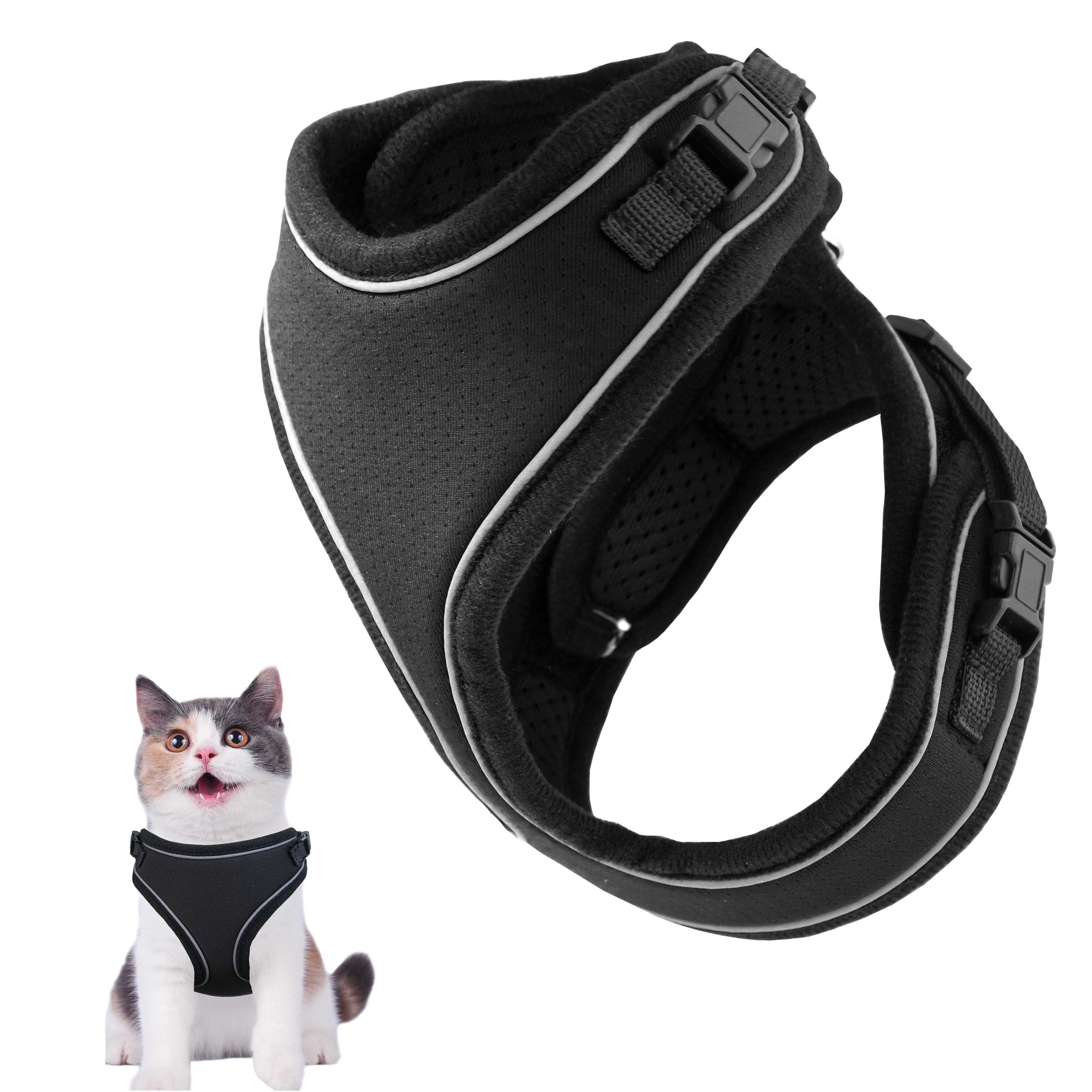 Idepet Arn/és y correa para gatos para caminar Arn/és de chaleco de malla suave ajustable para gatos peque/ños medianos grandes Mascotas Gatito Cachorro Conejo