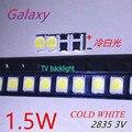 4000 шт. для Светодиодный Ной подсветки 1,5 Вт 3В 1210 3528 2835 131LM холодный белый ЖК-подсветка для ТВ Приложение CUW JHSP