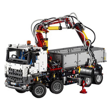 Lepins Technic 20005 Excavator Power Truck RC Model Building Blocks Self-locking Bricks Set Toys fit 42043 motorized 20005 technic car series remote control vehicle rc truck model building blocks bricks compatible with 42043 kids toys