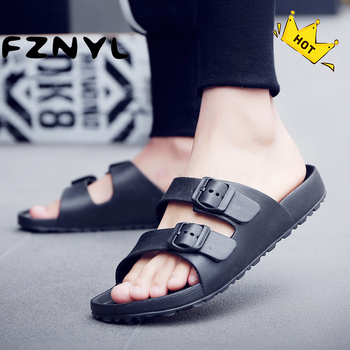 цены FZNYL Men Sandals 2020 Summer Beach Outdoor Casual Shoes Male Black Indoor Slippers Flip Flops Footwear Big Size Sandalias