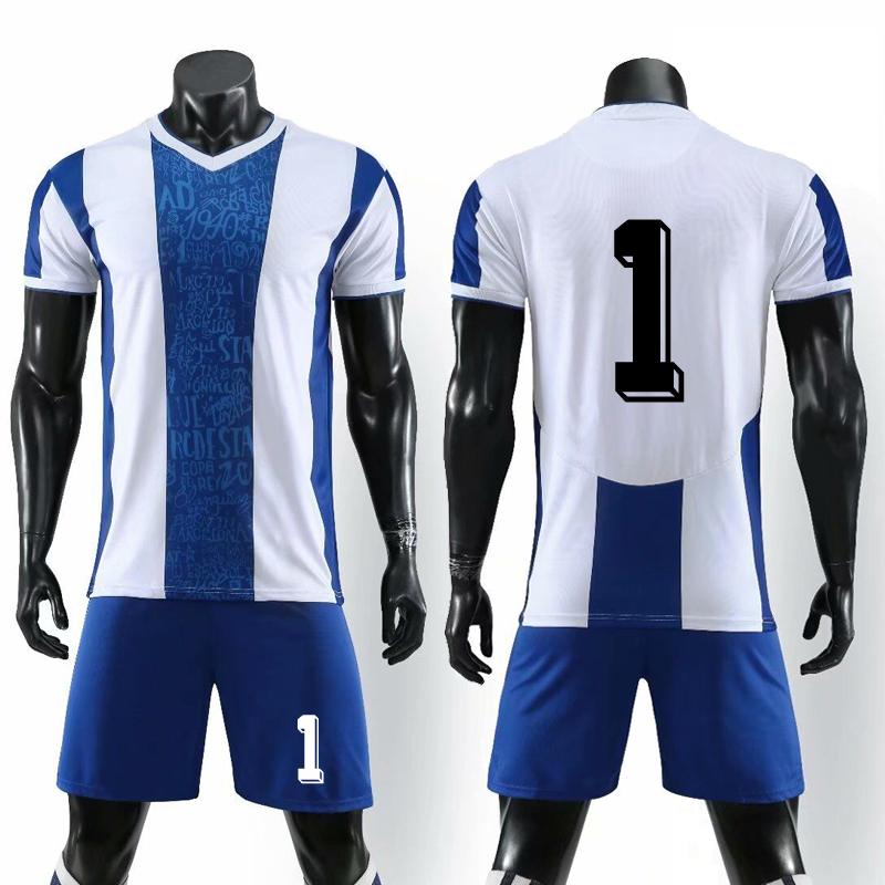 2019 Men Football Jerseys Team Survetement Breathable Blank Soccer Uniforms Kits Sport Training Suit Free Custom Name (No Badge)