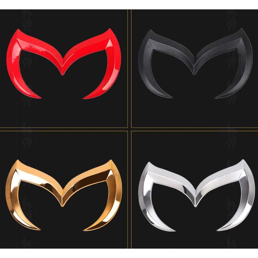 Zlord 1PC 3D Metallo Bat Batman M Logo Emblem Anteriore della Parte Posteriore Dell'automobile Distintivo Adesivo Decal per Mazda 3 5 6 Car Styling Accessori