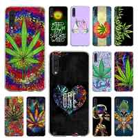 Case for Samsung Galaxy A51 A71 A50 A70 A10 A20 A30 A40 A11 A21 A31 A41 5G Coque Cover Abstractionism Art high weed