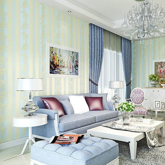 Coining 4D Bump Stereo American-Style Vertical Stripe Decorative Pattern Wallpaper Living Room Bedroom Sofa Background Brand Wal