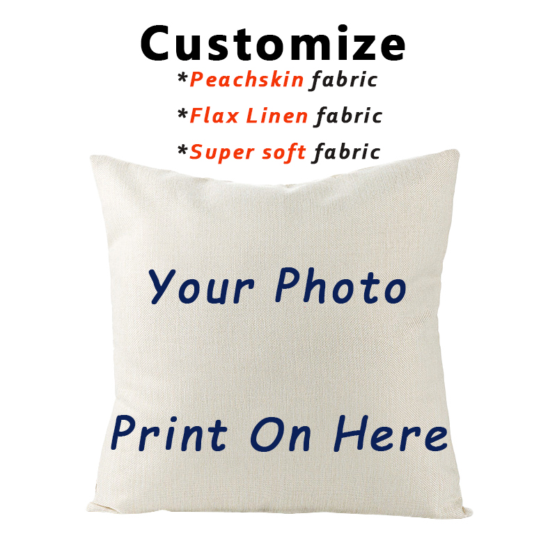 RULDGEE 2020 Picture Custom Linen Peachskin Pillow Case Pet Photo Design Gift Home Cushion Pillow Cover