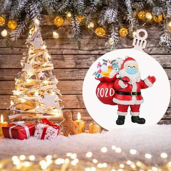 Christmas Drop Ornamen Wooden Ornaments Cute Santa Clause Wood Handmade Xmas Tree Pendant Family Christmas Decoration For Home image