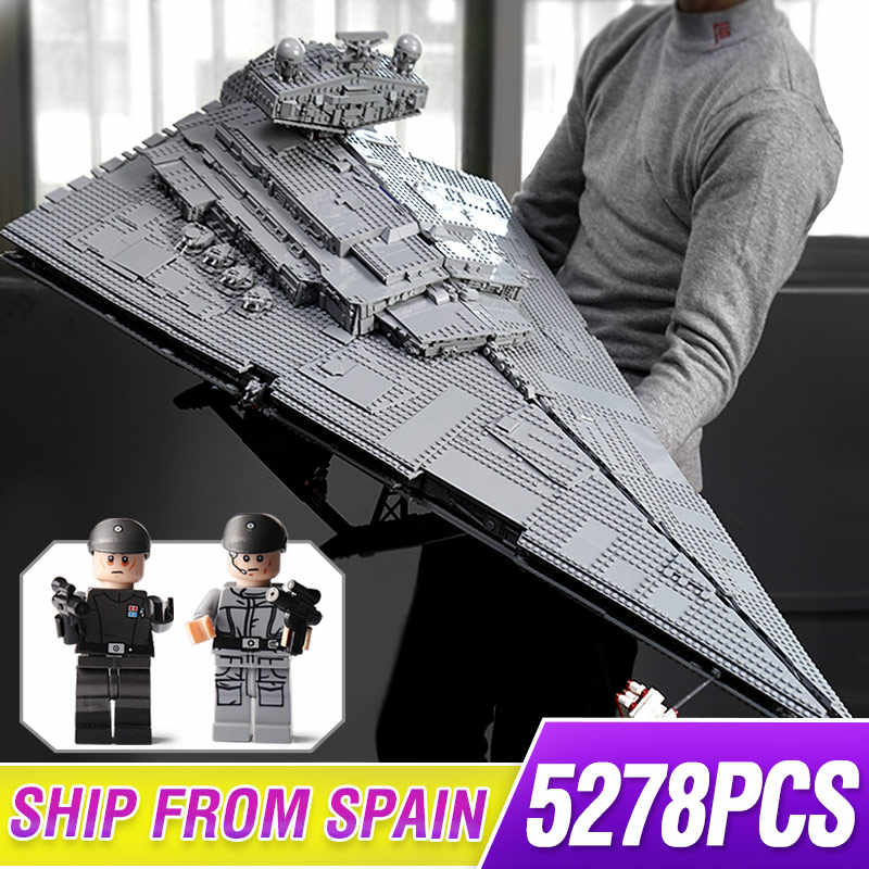 81098 star giocattoli Wars Ultimate Collector Series 5278PCS Max Imperiale star Destroyer astronave di Costruzione di Blocchi di Mattoni legoing 75252