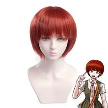 Juego Danganronpa Koizumi Mahiru peluca corta disfraz Cosplay Dangan Ronpa pelo sintético resistente al calor pelucas de mujer