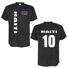 2020 sommer Mode Männer T-Shirt HAITI Lander Flagshirt Mit Ruckennummer
