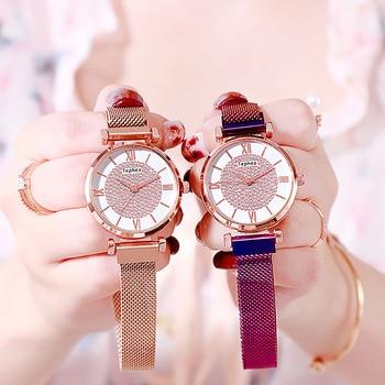 Women Magnetic Buckle Watch 2019 Luxury Brand Diamond Women Bracelet Wrist Watch For Ladies Wrist Watch Female Relogio Feminino 2