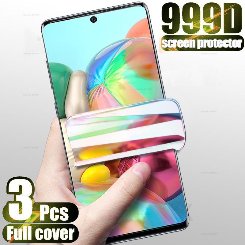 3-1 шт. Гидрогелевая пленка для Samsung Galaxy A71 A51 A31 M31 Защитная пленка для экрана A01 A11 A21 A91 M11 A50 A70 A90 A7 A8 A9 2018 не стекло