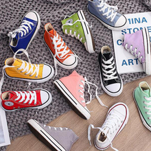 Sneakers School-Shoes Spring Canvas High-Top Quality-Fabric Outside Candy-Color Girls