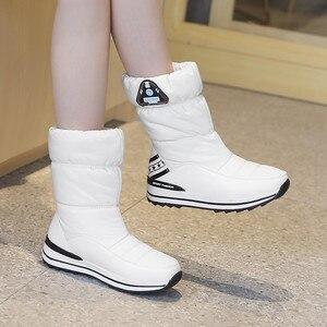 Image 5 - FEDONAS yeni kadın Flats platformları kış sıcak kar botları kaliteli su geçirmez ayakkabı kadın kadın yüksek orta buzağı Boots ayakkabı