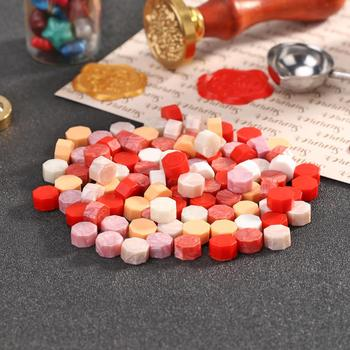 100pcs Seal Stamp Wax Vintage Octagon Sealing Wax Tablet Pills Beads Granule DIY Envelope Wedding Stamping Crafts Accessories image