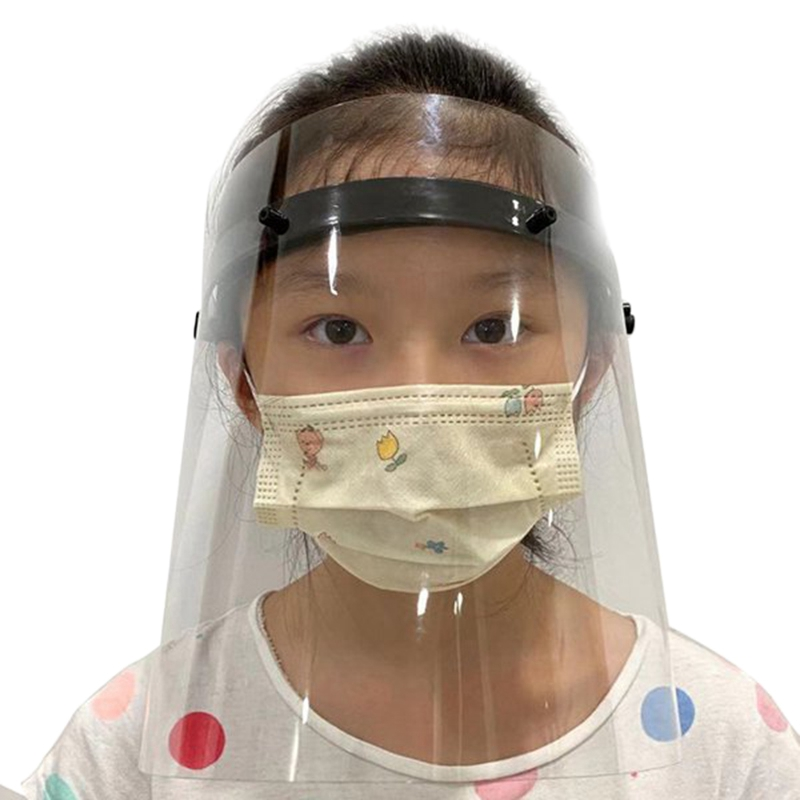 3 Pcs Transparent Full Face Covering Mask Visor Shield Prevent Anti Virus Anti Droplet Dust-Proof Protect Stop The Flying Spit