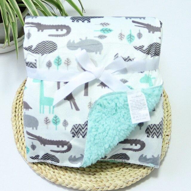 Fleece Double Layer Baby Blanket 3