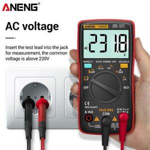 Image 4 - ANENG AN8009 Digital Multimeter Transistor Tester Kondensator True RMS Tester Automotive Elektrische Kapazität Meter Temp Diode