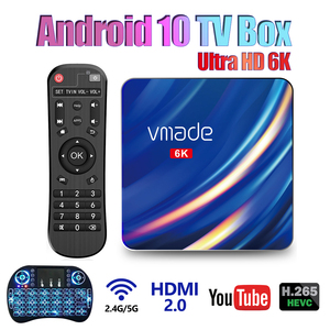 Vmade t1 smart android tv box 4g 32g 64g duplo wifi 2.4g & 5g bluetooth android 10 conjunto caixa superior tv receptor suporte google store