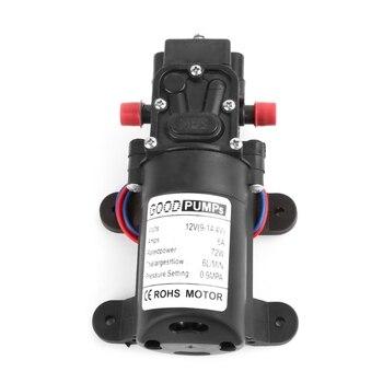 Mini Electric Water Pump DC 12V 72W High Pressure Micro Diaphragm Water Pump Automatic Switch Reflux Smart Type 60w dc 12v 0 8 145psi high pressure water pump micro electric diaphragm water pump automatic switch
