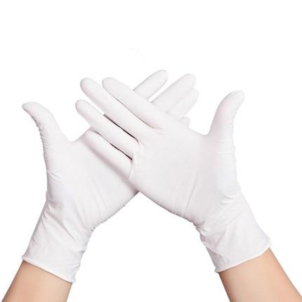 50pcs Disposable Gloves White Non-Slip Gloves For Women Men