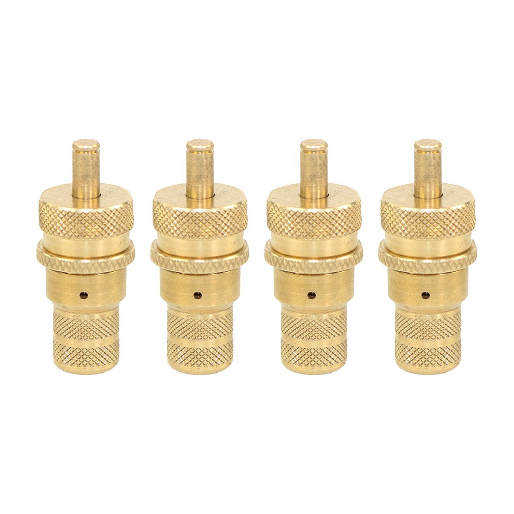 4Pcs 4WD Universal Brass Off-Road Automatic Tire Tyre Deflators Valve Set 6-30 PSI Adjustable Bleeder Set